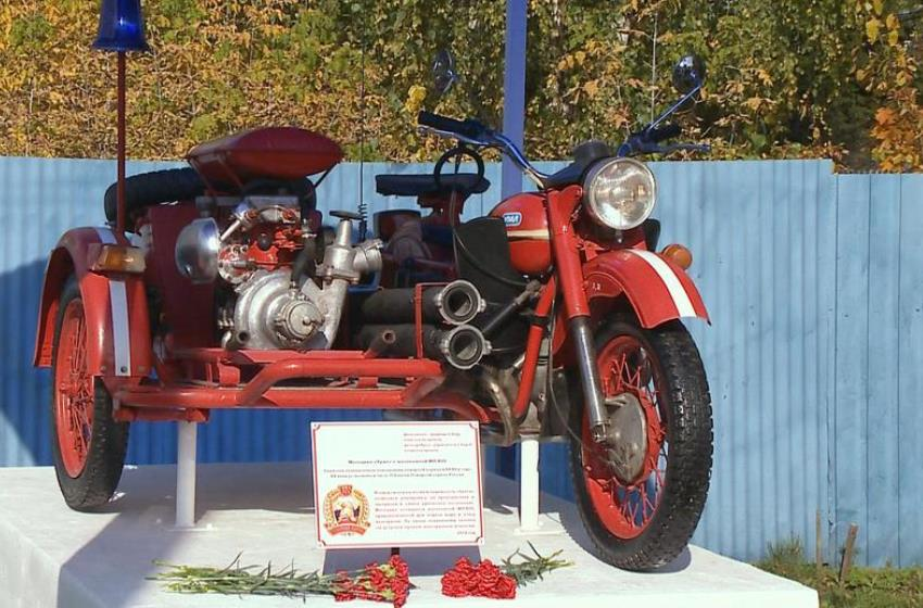 Раритетный пожарный мотоцикл восстановили в Раменском